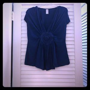 Royal blue empire waist top